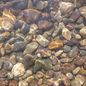 Stone pattern by Arun Karanth - Nature Up Close Rock & Stone ( clear, water, nature, pattern, stones, river )