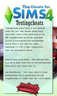 Cheats for Sims 4 - screenshot