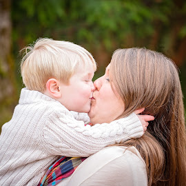 Unexpected Kisses by Michael  Thomas Ireland - People Family ( family, son, michaelthomasireland, portrait, mom, kisses )