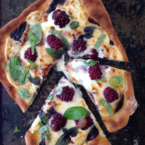 Berry Pizza Recipe with Whipped Ricotta Mascarpone Cheese