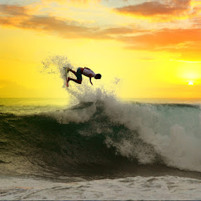 Great way to enjoy a sunset by Alit  Apriyana - Sports & Fitness Surfing