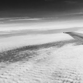 Clouds by Joseph Baker - Instagram & Mobile iPhone ( clouds, plane, black and white, airplane, iphone )