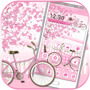 Sakura Pink Bicycle Launcher Theme For PC