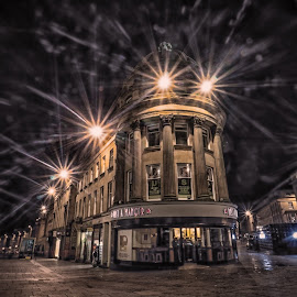 Somewhere Between Christmas & Guy Fawkes  by Adam Lang - City,  Street & Park  Street Scenes ( grainger street, buildings, streets, newcastle, architecture, grey street )