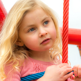 by Keith Sutherland - Babies & Children Child Portraits ( child, playground, blonde, girl )