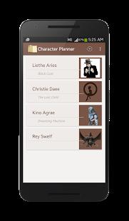 Character Story Planner- screenshot thumbnail