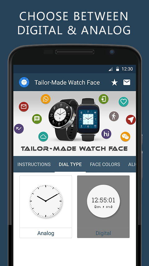Tailor-Made Watch Face Screenshot 1