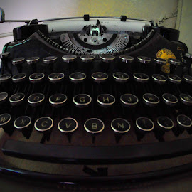 Vintage Typewriter by Marco Bertamé - Artistic Objects Other Objects ( keyboard, numbers, typewriter, vintage, letters, key )