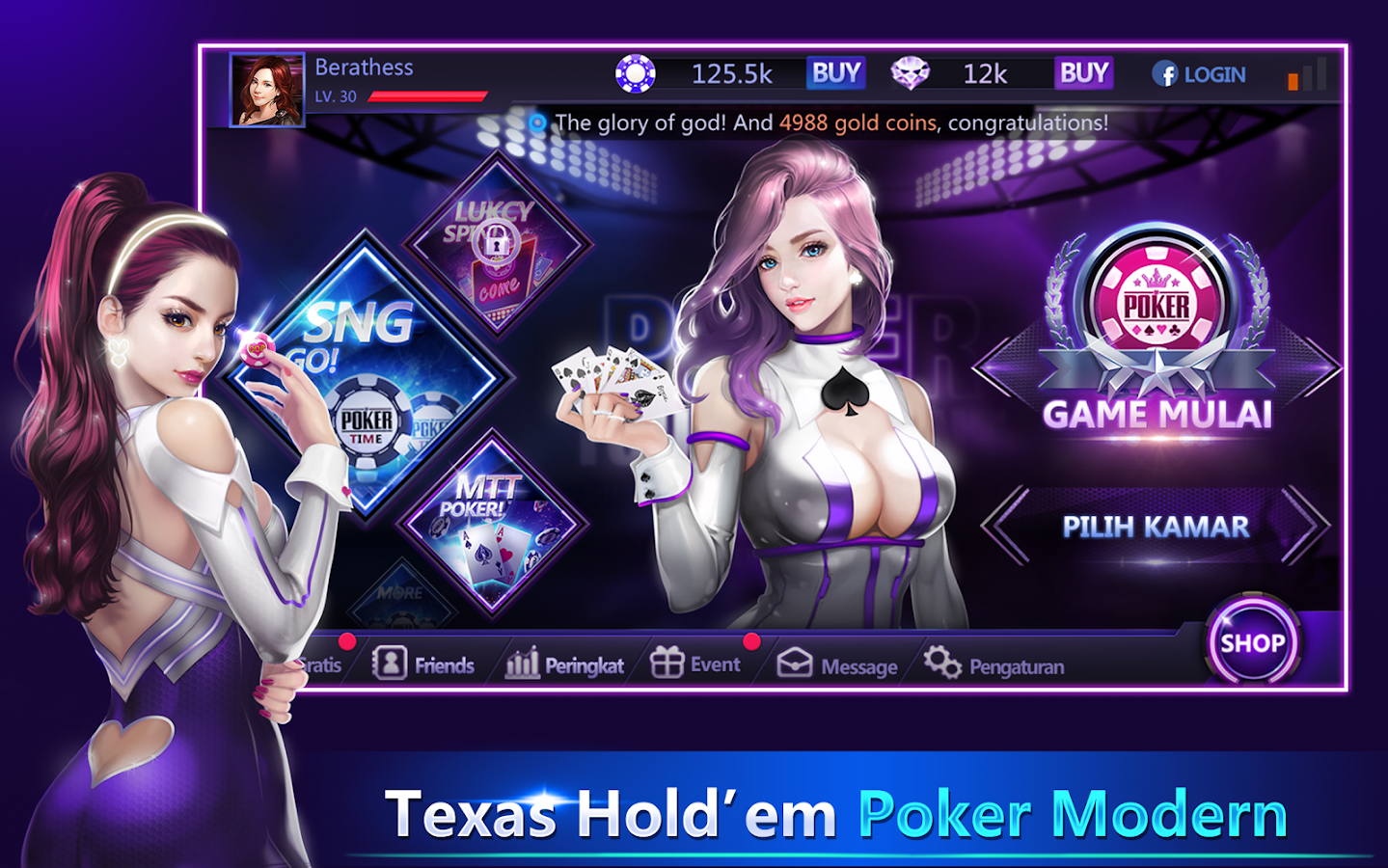 Poker Time -Pulsa Texas Holdem Screenshot 0