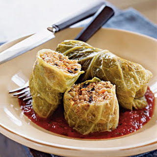 Whole Grain and Italian Sausage–Stuffed Cabbage