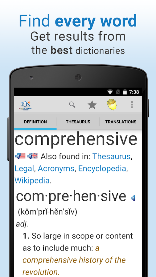 Dictionary Pro Screenshot 1