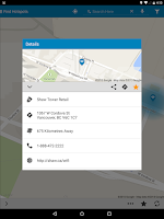Screenshot of Shaw Go WiFi Finder