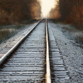 Railroad Tracks by Ann Overhulse - Travel Locations Railway