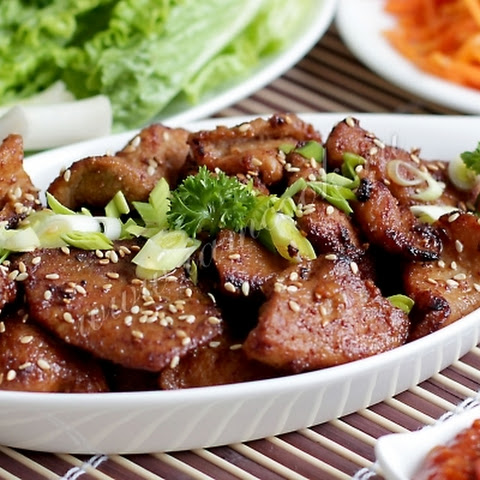 Juicy pork in Korean