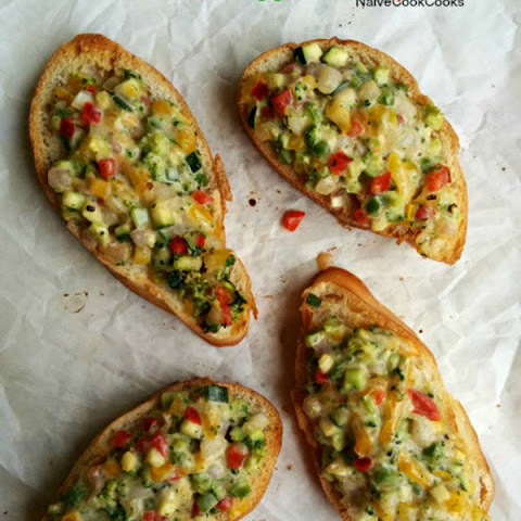 Loaded Veggie Toasts