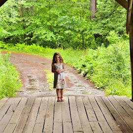 Walking Across the Covered Bridge by Cheryl Korotky - Babies & Children Children Candids