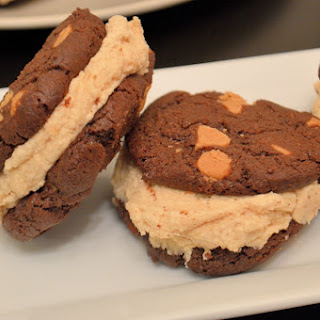Peanut Butter and Chocolate Cookie Sandwiches