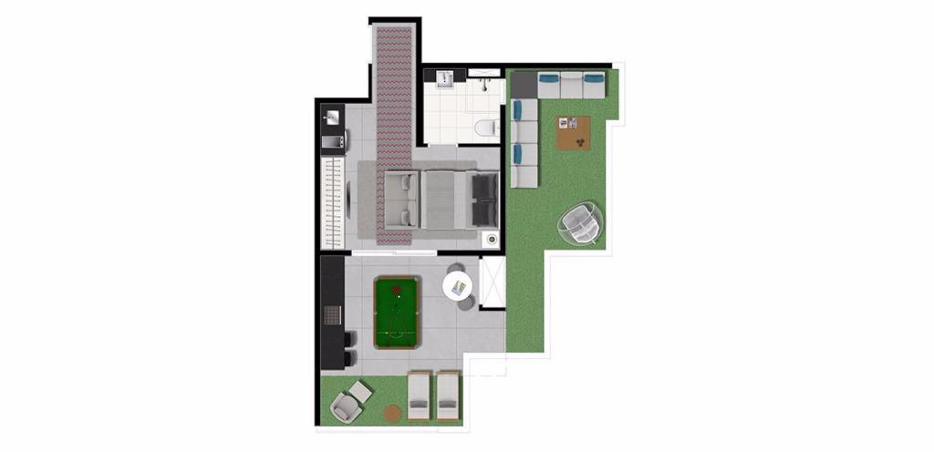 Planta Penthouse 51 m²