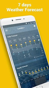 live weather and clock widget Screenshot