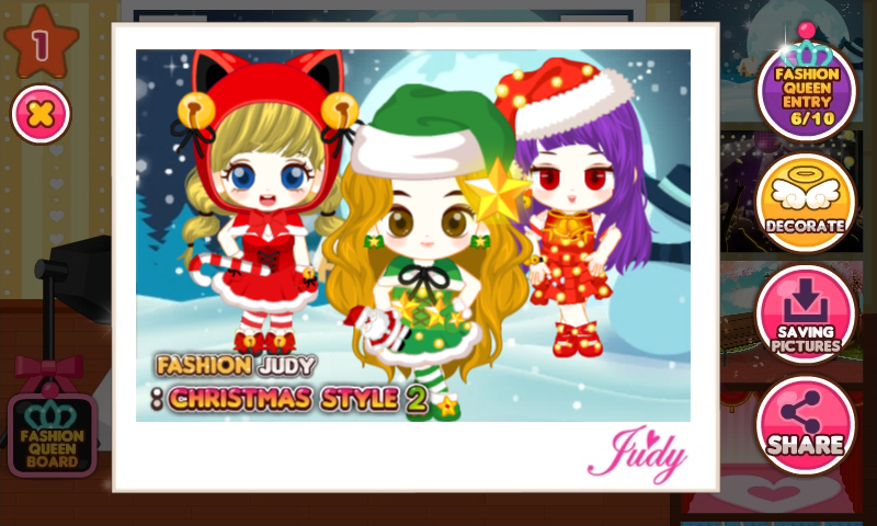 android Fashion Judy: Christmas style2 Screenshot 3