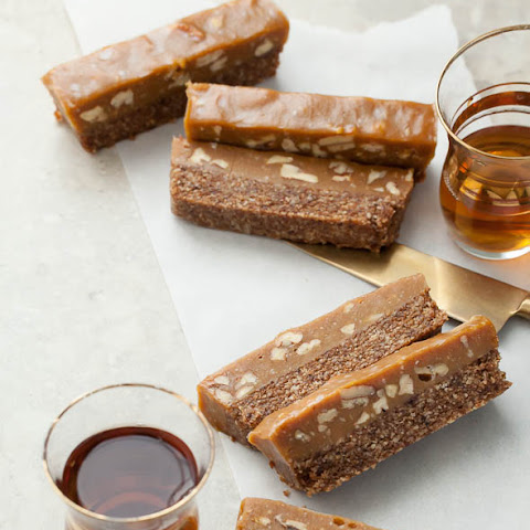 Coconut Caramel Topped Cinnamon Pecan Bars