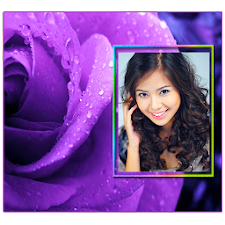 Purple Roses Photo Frames