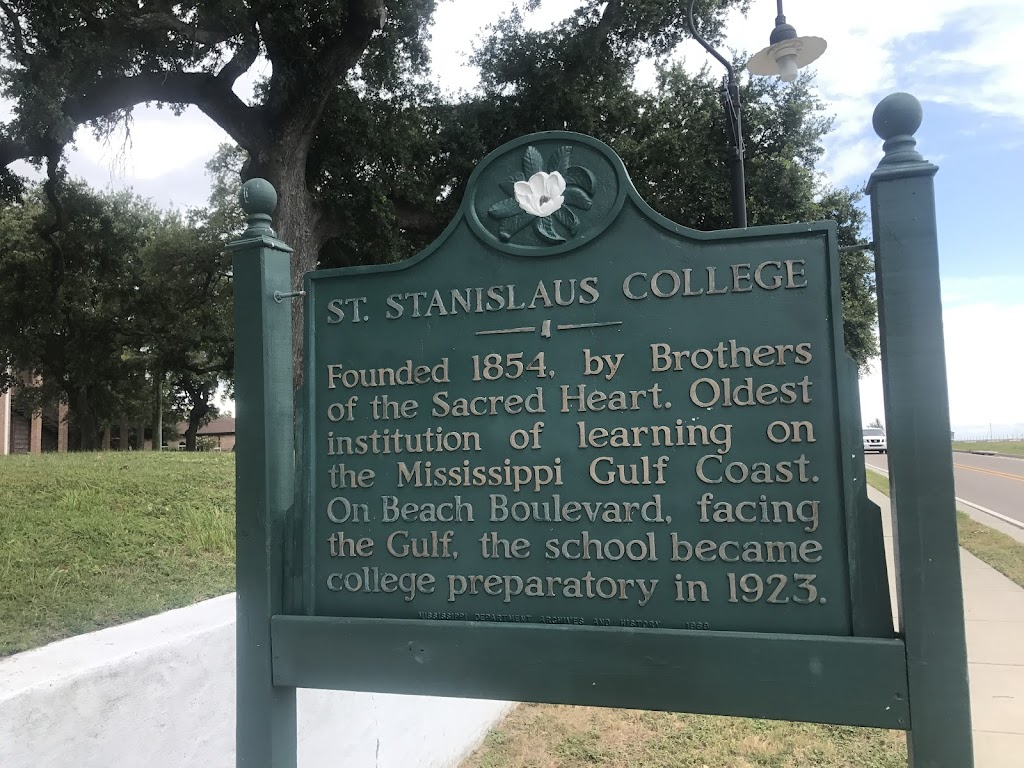 Founded 1854, by Brothers of the Sacred Heart. Oldest institution of learning on the Mississippi Gulf Coast. On Beach Boulevard, facing the Gulf, the school became college preparatory in 1923.