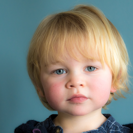 Little Blue Eyes by Keith Sutherland - Babies & Children Child Portraits ( blond, blue eyes, boy )