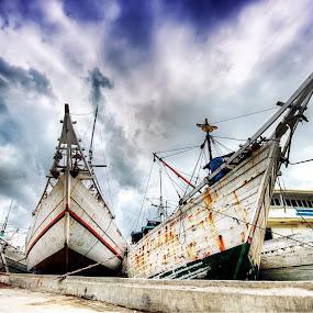 Ready to Sail by Gema Goeyardi - Transportation Boats