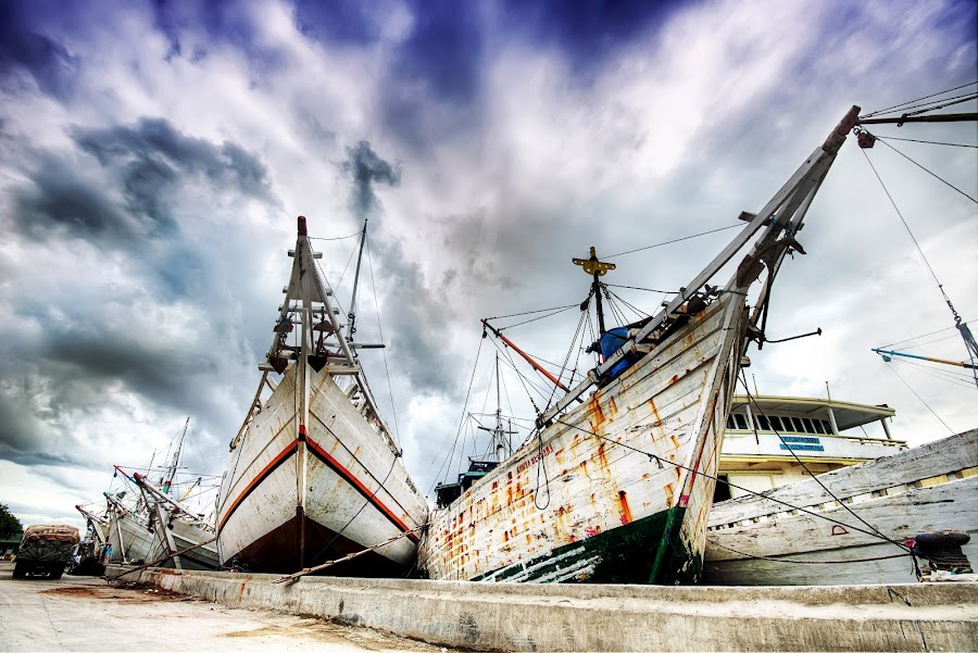 Ready to Sail by Gema Goeyardi - Transportation Boats
