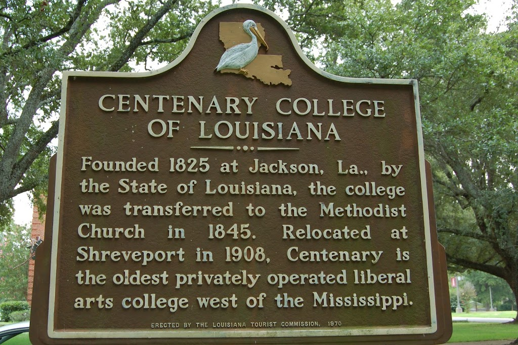 Founded 1825 at Jackson, LA., by the State of Louisiana, the college was transferred to the Methodist Church in 1845. Relocated at Shreveport in 1908, Centenary is the oldest privately operated ...