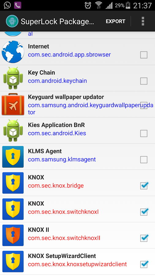 Package Disabler Pro (Samsung) Screenshot 6