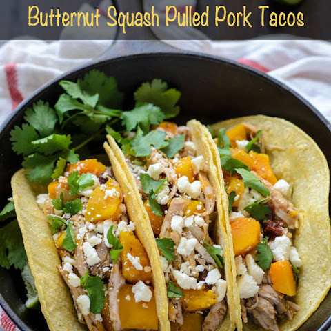 Slow Cooker Butternut Squash Pulled Pork Tacos