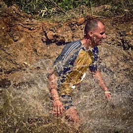 Wet Wet Wet ! by Marco Bertamé - Sports & Fitness Other Sports ( water, amnéville, splash, drops, effort, the mud day, hard, running )
