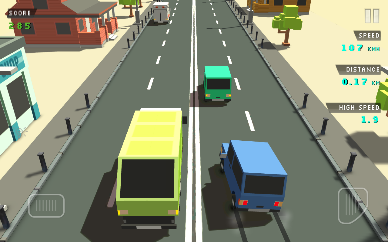 Blocky Traffic Racer Screenshot 0