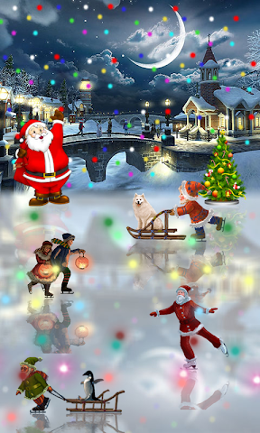 android Christmas Rink Live Wallpaper Screenshot 2