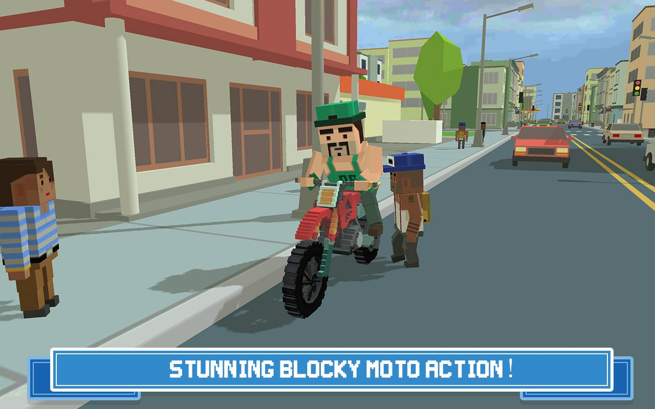 Moto Rider 3D: Blocky City 17 Screenshot 0