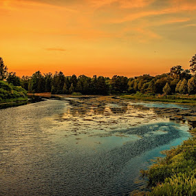 Before Sunset. by Gene Brumer - Landscapes Sunsets & Sunrises ( water, sky, sunset )