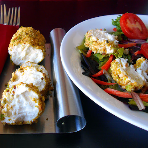 Cardamom and Pistachio Crusted Goat Cheese Salad