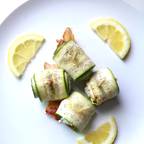 ZUCCHINI BACON GOAT CHEESE ROLL UPS