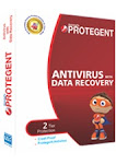 Protegent Antivirus Software with Data Recovery- 1 Year /1 User
