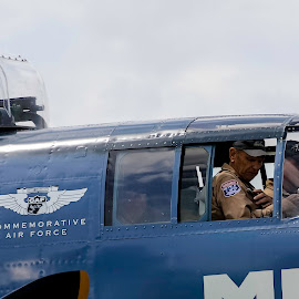 by Jackie Eatinger - Transportation Airplanes ( b25. airplane )