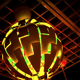 Globes of Light by James Kirk - Artistic Objects Glass ( globes, green, yellow, light )