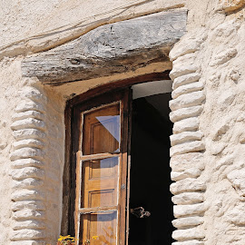 Open Winow by Victor Eliu - Buildings & Architecture Architectural Detail ( open, building, ancient, window, st. jeanett, stone, france )