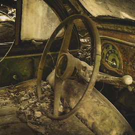 Old Car by Susan Wicher - Transportation Automobiles ( car, natur, transportation, decay, abandoned )
