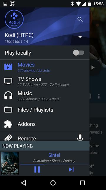 Yatse, the Kodi / XBMC Remote screenshots
