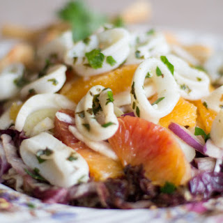 Fennel, Blood Orange and Calamari Salad