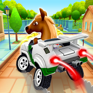 Pony Craft Unicorn Car Racing  Boy Girl Driving for PC / Windows & MAC