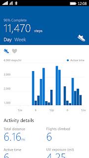 Microsoft Health screenshot