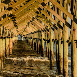 Pier by Prentiss Findlay - Buildings & Architecture Other Exteriors ( ocean pier, pier at sunset, ocean pier at sunset, pier, beach pier )